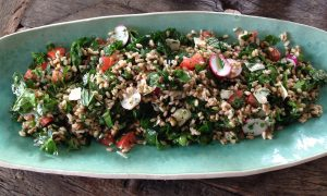 Farro Salad with Baby Kale