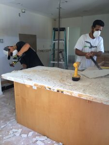 Demo the counter top