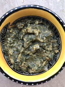Indian Eats, Spinach with Lentils