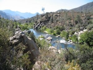 Camping in the Sierras by the Kern River